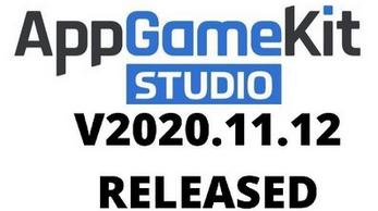 AppGameKit Studio Release 20.11.12