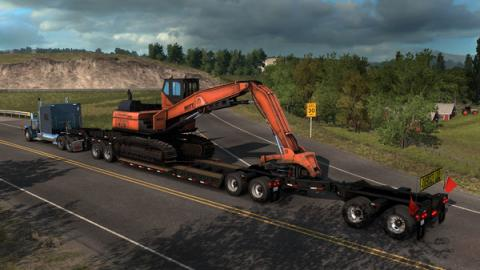 "American Truck Simulator DLC ""Forest Machinery"" Screenshot"