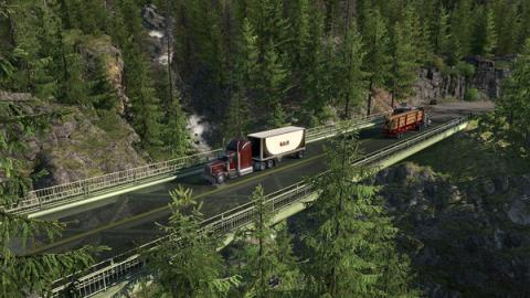 "American Truck Simulator DLC ""Washington"" Screenshot"