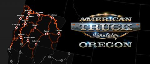 American Truck Simulator: Oregon-DLC Map