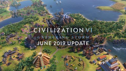 Civilization VI: Gathering Storm June Update Header