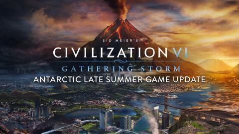 Civilization VI: Gathering Storm - Antarctic Late Summer Update Header
