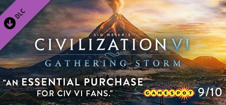 "Civilization VI: DLC ""Gathering Storm"" Header"