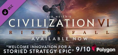 "Civilization VI: Erweiterung ""Rise and Fall"" Header"