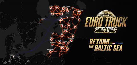 "Euro Truck Simulator 2: DLC ""Beyond the Baltic Sea"" Map"
