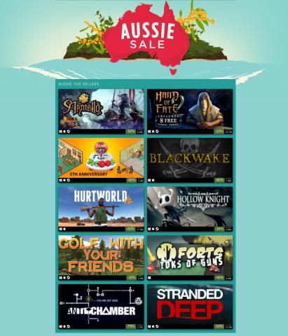 Steam Aussie Sale Logo