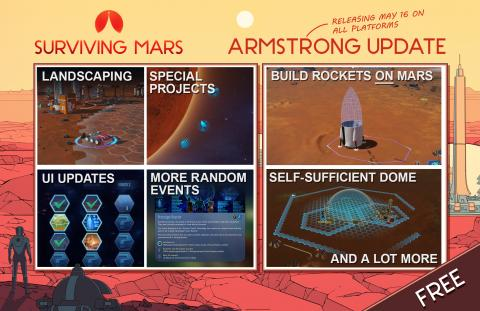 Surviving Mars Armstrong Update Header