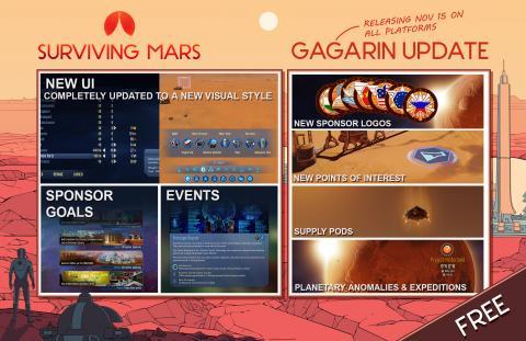 Surviving Mars Gagarin Update