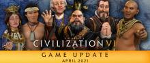 Civilization VI: April 2021 Update Header