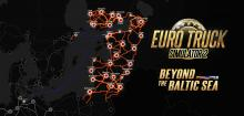 "Euro Truck Simulator 2: DLC ""Beyond the Baltic Sea"" Map"
