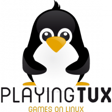 Playing Tux Logo