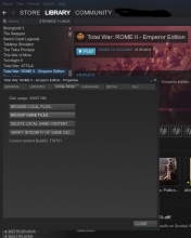 Steam Library Total War Rome 2