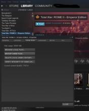 Steam Library Total War Rome 2