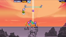 Tricky Towers Endless Mode Screenshot
